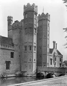 Description: The ornately decorated gatehouse at Oxburgh Hall, dating from 1482, is one of many examples of the potential offered by brick as a building material.